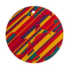 Colorful hot pattern Ornament (Round)