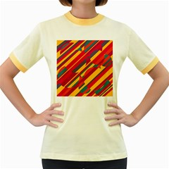 Colorful hot pattern Women s Fitted Ringer T-Shirts