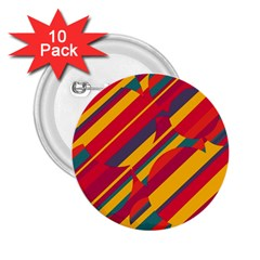 Colorful hot pattern 2.25  Buttons (10 pack)