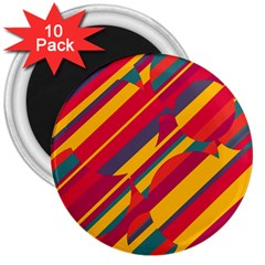 Colorful hot pattern 3  Magnets (10 pack)