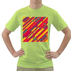 Colorful hot pattern Green T-Shirt