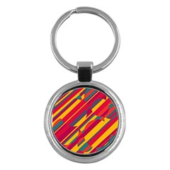 Colorful hot pattern Key Chains (Round)