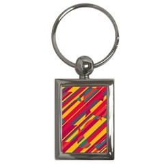 Colorful hot pattern Key Chains (Rectangle)
