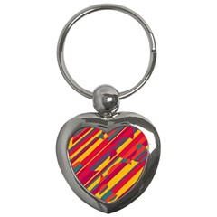 Colorful hot pattern Key Chains (Heart)