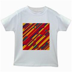 Colorful hot pattern Kids White T-Shirts