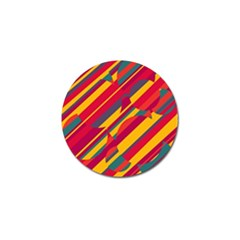 Colorful hot pattern Golf Ball Marker (10 pack)