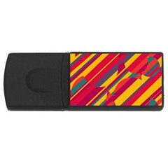 Colorful hot pattern USB Flash Drive Rectangular (2 GB)