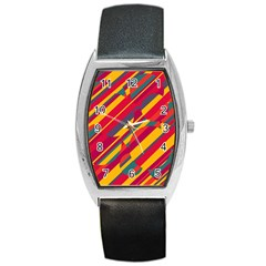 Colorful hot pattern Barrel Style Metal Watch