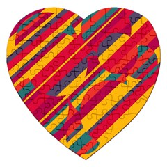 Colorful hot pattern Jigsaw Puzzle (Heart)