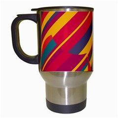 Colorful hot pattern Travel Mugs (White)