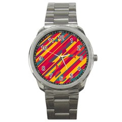 Colorful hot pattern Sport Metal Watch