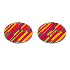 Colorful hot pattern Cufflinks (Oval)