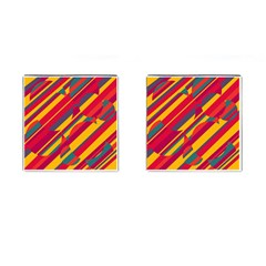 Colorful hot pattern Cufflinks (Square)