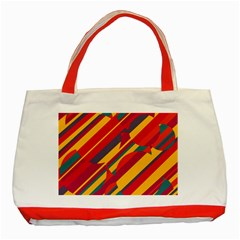 Colorful hot pattern Classic Tote Bag (Red)