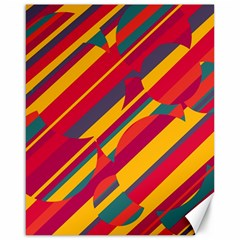 Colorful hot pattern Canvas 16  x 20