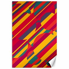 Colorful hot pattern Canvas 24  x 36