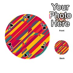 Colorful hot pattern Playing Cards 54 (Round)