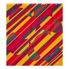 Colorful hot pattern Shower Curtain 66  x 72  (Large)