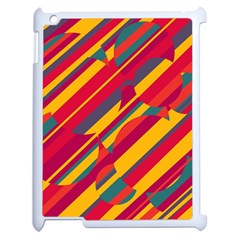 Colorful hot pattern Apple iPad 2 Case (White)