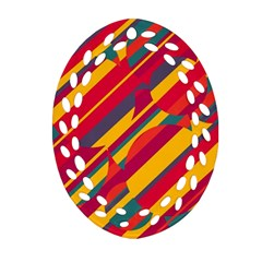 Colorful hot pattern Ornament (Oval Filigree)
