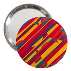 Colorful hot pattern 3  Handbag Mirrors