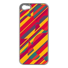 Colorful hot pattern Apple iPhone 5 Case (Silver)