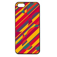 Colorful hot pattern Apple iPhone 5 Seamless Case (Black)