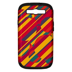 Colorful hot pattern Samsung Galaxy S III Hardshell Case (PC+Silicone)
