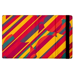Colorful hot pattern Apple iPad 3/4 Flip Case