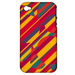 Colorful hot pattern Apple iPhone 4/4S Hardshell Case (PC+Silicone)