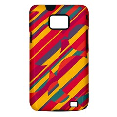 Colorful hot pattern Samsung Galaxy S II i9100 Hardshell Case (PC+Silicone)
