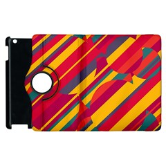 Colorful hot pattern Apple iPad 3/4 Flip 360 Case
