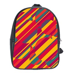 Colorful hot pattern School Bags (XL)