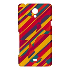 Colorful hot pattern Sony Xperia T