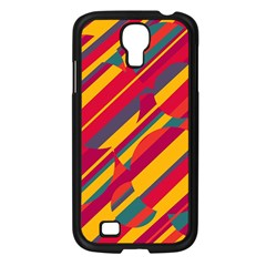 Colorful hot pattern Samsung Galaxy S4 I9500/ I9505 Case (Black)