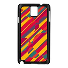 Colorful hot pattern Samsung Galaxy Note 3 N9005 Case (Black)