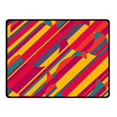 Colorful hot pattern Double Sided Fleece Blanket (Small)