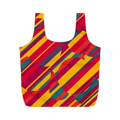 Colorful hot pattern Full Print Recycle Bags (M)