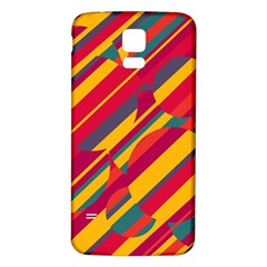 Colorful hot pattern Samsung Galaxy S5 Back Case (White)