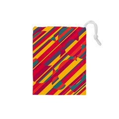 Colorful hot pattern Drawstring Pouches (Small)