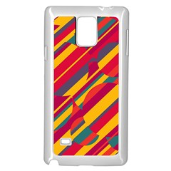 Colorful hot pattern Samsung Galaxy Note 4 Case (White)