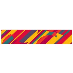 Colorful hot pattern Flano Scarf (Small)