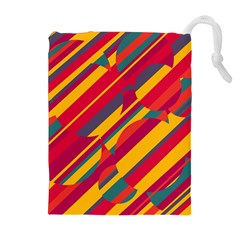Colorful hot pattern Drawstring Pouches (Extra Large)