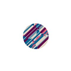 Blue and pink pattern 1  Mini Buttons
