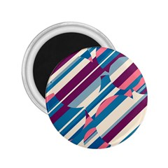Blue and pink pattern 2.25  Magnets