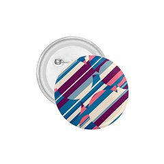 Blue and pink pattern 1.75  Buttons
