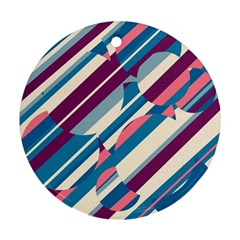 Blue and pink pattern Ornament (Round)