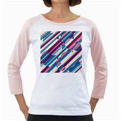 Blue and pink pattern Girly Raglans