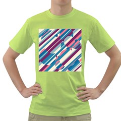 Blue and pink pattern Green T-Shirt