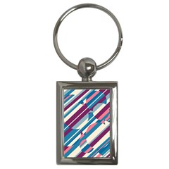 Blue and pink pattern Key Chains (Rectangle)